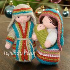 Pesebre Navideño - Nacimiento Amigurumi - Patrón Gratis en Español de San José aquí: http://www.tejiendoperu.com/navidad/san-josé-tejido-a-crochet-amigurumi/ Patrón Gratis en Español Vírgen María y Niño Jesús aquí: http://www.tejiendoperu.com/navidad/virgen-maría-y-niño-jesus-a-crochet/ con Videotutoriales