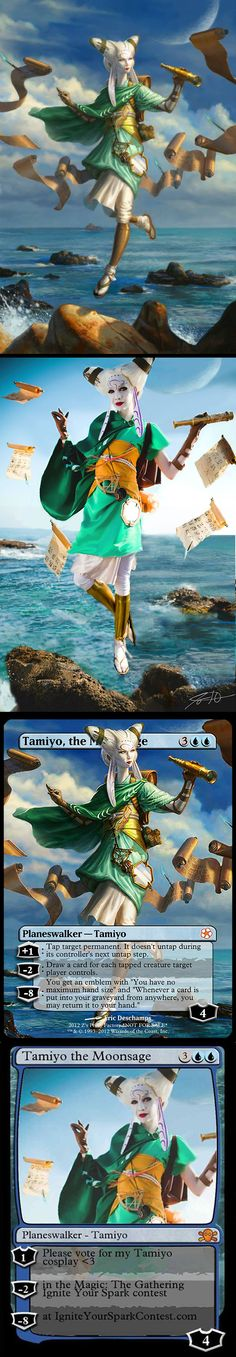 Tamiyo, the Moon Sage - Gatherer - Wizards of the Coast by Lyz Brinkley