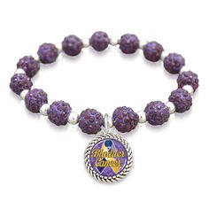 Bladder Cancer Awareness Sparkle Stretch Bracelet, Now just $9.98 // Support the American Cancer Society! 30% of the profits go to help research for ACS // Charming Collectables