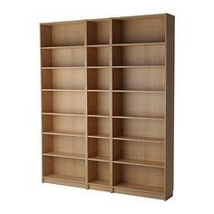 BILLY Regał IKEA Półki można regulować, dzięki czemu możesz dopasować przestrzeń do przechowywania w zależności od potrzeb.