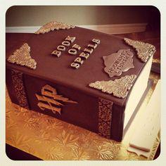 Harry Potter Book cake - Kakes by Kristi. Harry Potter Book Cake, Cake Pictures, Cake Pics, American Pie, Fancy Cookies, Edible Art, Celebration Cakes, Cake Art, Cake Designs