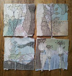 New work 2013 Anne Brooke { trendsetter; amazing textile artwork }