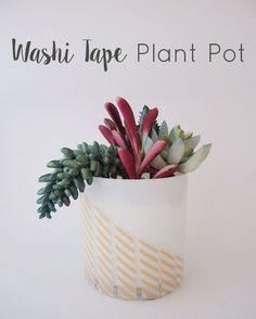 Washi Tape Plant Pot - Gold Standard Workshop