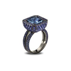 Sapphire Cup Ring