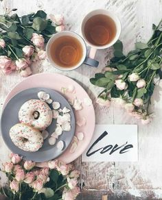 Tea and donuts