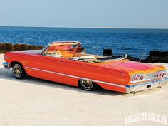 1963 Chevrolet Impala At The Beach