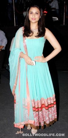 #ParineetiChopra in Manish Malhotra   Love the Tiffany blue