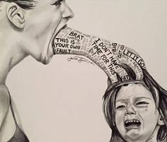 This is one of the most powerful images I have ever seen. Their minds are fragile, their emotions run deep... Don't destroy them mentally. Your words can never be taken back.