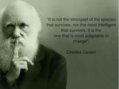 Here is a quote from Charles Darwin that I like.