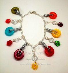 Button Bracelet, no directions just picture