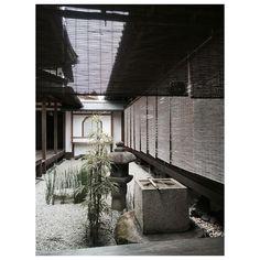 Zuihō-in #garden #japanesegarden #karesansui #tōrō #stonelantern #stone #plants #water #sudare #wood #architecture #japanesearchitecture #kyoto #japan