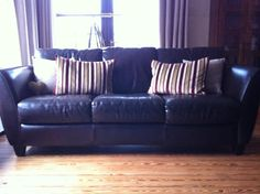 Large Italian leather sofa on Gumtree. Originally purchased from sterling furniture designer range this top quality leather sofa has a soli