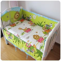 42.80$  Buy here - http://aiv7s.worlditems.win/all/product.php?id=32379689462 - Promotion! 6pcs With Filler Baby crib bedding set cot bedding sets baby bed set (bumpers+sheet+pillow cover)
