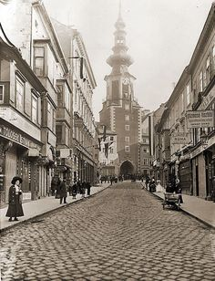 1897 - Michalská ulica Bratislava, Old Photos, Street View, Country, Times, Photography, Retro, Pictures, Germany
