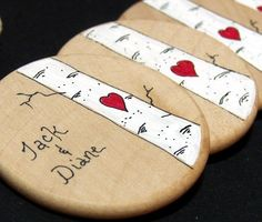 Personalized Wedding Guest Favors 10 pieces Love by theepapergirl, $70.00