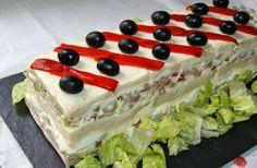 APERITIVOS-   PASTEL FRIO DE ATUN CON PAN DE MOLDE  - Anna recetas fáciles: Pastel frío de atún con pan de molde