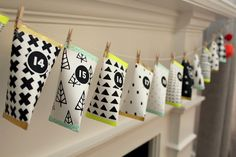 diy advent calendar garland. with printables!                                                                                                                                                                                 More