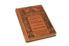 Benziger Brothers Bible History Book, Antique Bible Study Bible Story Reference Book, Antique Religious Book, Roman Catholic School Book