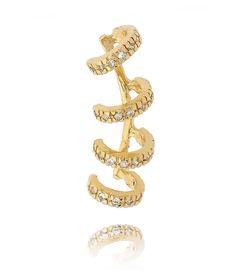 Piercing de argolinhas folheado a ouro 18k semi joia