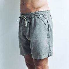Made from soft organic linen and featuring a drawstring waistband, they're our favourite, breathable and versatile wardrobe staple. Perfect shorts for every occasion.  Light Khaki Relaxed fit  Drawstring waistband   Single pocket at the back 100% Linen  Cool wash, hang dry  Model wears size XL / 36 inch waist Linen Shorts, Wardrobe Staples, Label, Organic, Pocket, Fit, How To Wear, Collection, Fashion