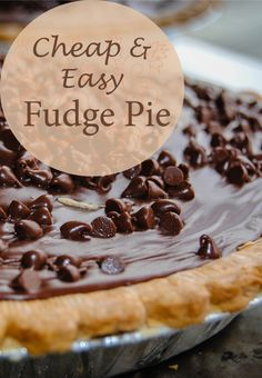 Fudge Pie is frugal because it's made with ingredients that we almost always have on hand! If you need to satisfy your chocolate craving make a Fudge Pie! Totally indulge by serving with ice cream and hot fudge!