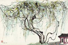Wu Guanzhong: Wisteria (1980) | China Online Museum