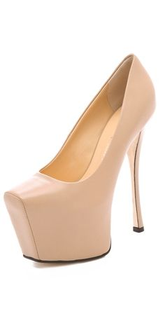 Today's So Shoe Me is the Extreme Platform Pumps by Giuseppe Zanotti, $750, available at Shopbop. Pumping up my style to new heights is the ultimate nude heel for creating lengthy legs in an updated classic shape.