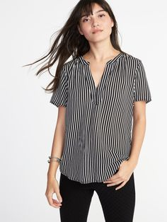 Old Navy sz xl-black and white striped