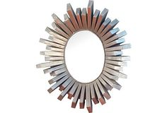 Love the look of how wood is detailed on 1960s Starburst Mirror from OKL.   Perhaps a DIY project?