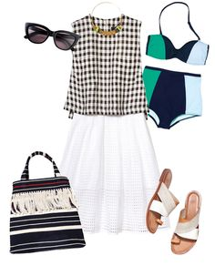 Outfit inspriation from #InStyle featuring the Patti Cross Over Sandal!