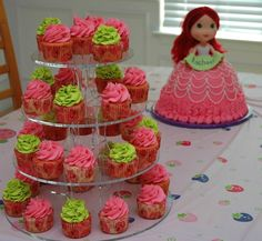 | Strawberry Shortcake Cupcakes and cake!