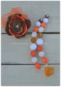 Ladies Texas Longhorns chunky orange and by TheChunkyCandyShoppe