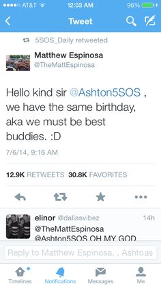 Hehe O.O LIFE COMPLETE thats funny matt and ashton have the same bday and keaton Stromberg and luke hemmings have the same bday im going to die