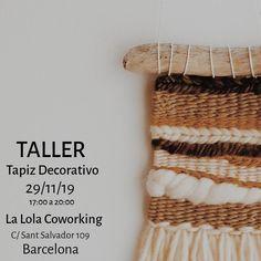 """117 Me gusta, 6 comentarios - Edurne (@artilez_tejiendo_emociones) en Instagram: """"~ TALLER TAPIZ DECORATIVO ~ Repito Taller y esta vez será en @lalolacoworking y en viernes. Si os…"""" Instagram, Tapestries, Weaving Looms, Friday, Atelier, Tejidos"""