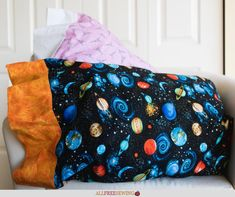 This super easy DIY pillowcase is so fun because it's the magical kind! Learn how to sew a pillowcase with our video tutorial and written instructions. These magic pillowcase instructions are so easy Easy Sewing Patterns, Easy Sewing Projects, Sewing Projects For Beginners, Sewing Hacks, Sewing Tutorials, Sewing Crafts, Dress Tutorials, Video Tutorials, Knitting Projects