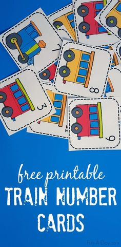 Printable Train Number Matching Card Game Train numbers perfect for a card matching game and many other early math activities – includes a free printable Train Preschool Activities, Transportation Theme Preschool, Numbers Preschool, Preschool Math, Kindergarten, Preschool Curriculum, Homeschooling, Matching Cards, Number Matching