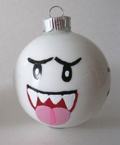 Mario Boo Christmas ornament