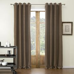 Classic Embossed Novelty Polyester Blackout Curtain  #curtains #decor #homedecor #homeinterior #brown