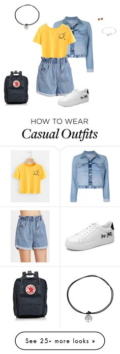 """""""Casual Summer Afternoon"""" by mecora on Polyvore featuring RE/DONE, Fjällräven, Summer, romwe, comfy and retro"""