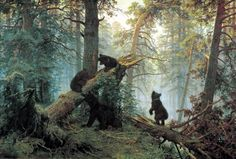 Утро в сосновом лесу. Шишкин Иван Иванович (1832-1898)