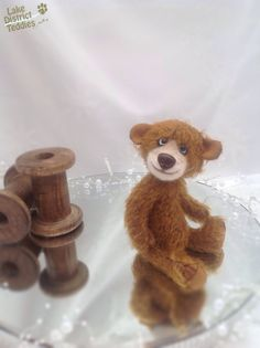 Brown Mohair teddy bear  handmade by LakeDistrictTeddies on Etsy