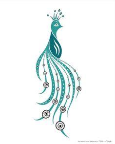 Peacock Xmas card idea