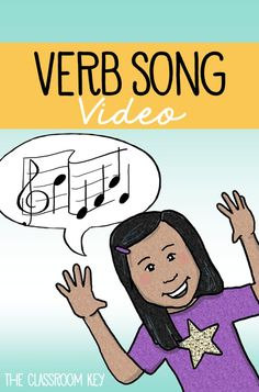 Learning parts of speech is much more fun with music! Use this free song and video to teach your elementary students about verbs #partsofspeech #grammar #verbs