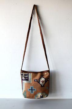 IKAT southwest PURSE woven style handbag LEATHER strap tote. $36.00, via Etsy.