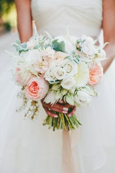 Spring bouquet: http://www.stylemepretty.com/little-black-book-blog/2015/03/24/rustic-italian-olive-branch-winery-wedding/ | Photography: Onelove - http://www.onelove-photo.com/