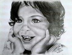 Retrato #grafito #girl #cartulina #hilo