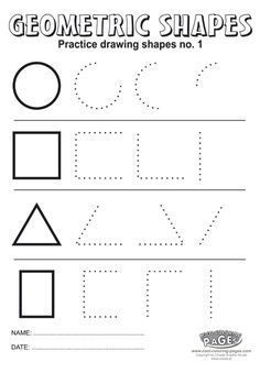 Practice drawing shapes no 1 - Cool Coloring Pages Kindergarten Math Worksheets, Preschool Learning Activities, Preschool Activities, Montessori Math, Shapes Worksheets, Worksheets For Kids, Tracing Worksheets, Teaching Shapes, Cool Coloring Pages