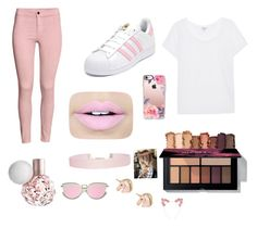 """Pretty pink"" by didemm22 on Polyvore featuring H&M, adidas, Splendid, Fiebiger, Humble Chic and Casetify"