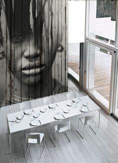 "Antonio Mora Artwork - ""El erizo"". Printed paper on wood. Collage sobre viejos tablones de madera o vinilo . #Deco #home #design . info sale pil4r@routetoart.com"