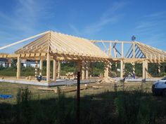 Novadomi.com | One of our construction company sent this - beautiful Timber Frame on the south of Poland.
